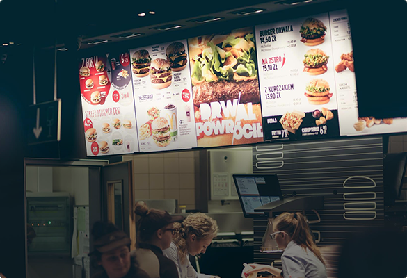 Digital Menu Board Installations | Digital Signage Solutions - ATDEC