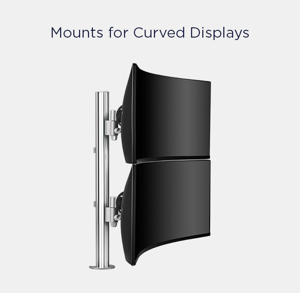 Mounts for curved monitors
